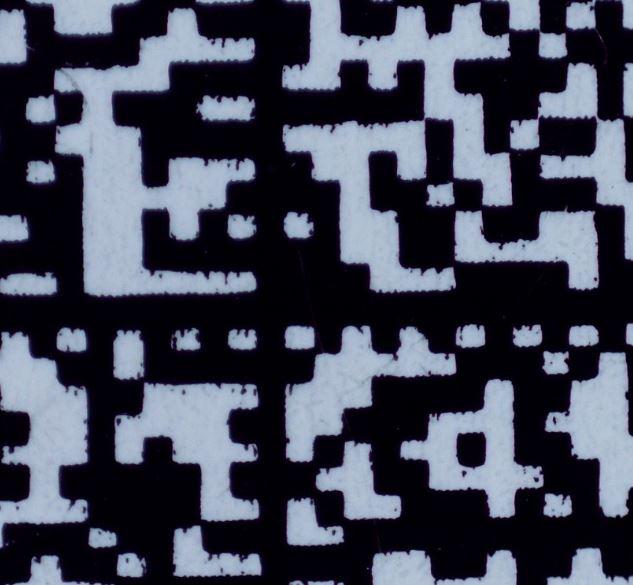 2-dimensionaler Code ist mit verschmiertem Druckbild unlesbar