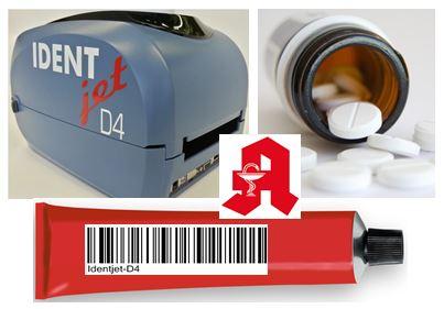 Apotheke + Drucker, Thermotransfer-Printer zur Produkt-Kennzeichnung