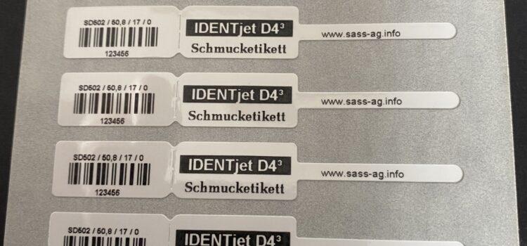 Armbänder etikettieren für das Ultraschallbad