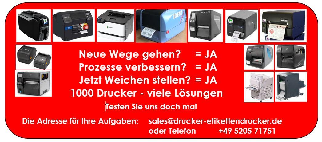 Automatisierungs-Drucker für Anlagen mit hoher Spitzen-Last bekommen Sie in zahlreichen Varianten