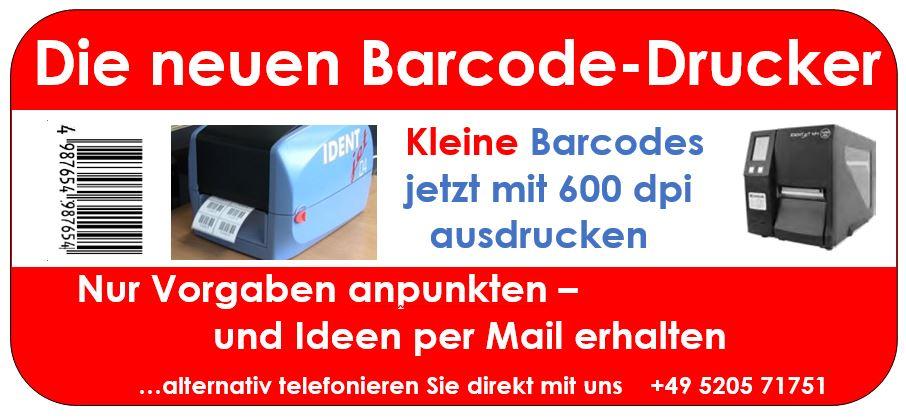 Die neuen Barcode-Anwendungen mit 600 dpi