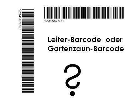 Barcode-Druckrichtung verbessert das Ergebnis