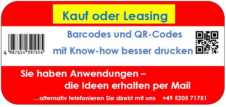 Kauf oder Leasing - beides ist möglich