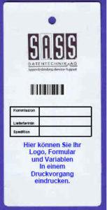 Bindeetiketten zur Waren-Kennzeichnung