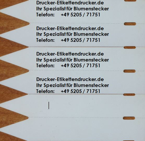 Blumenstecker bedruckt