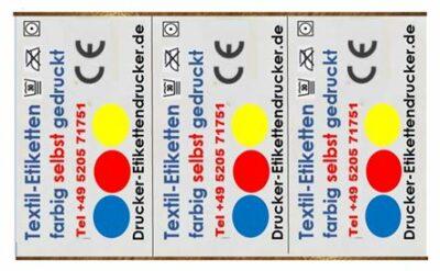 Textil-Etiketten farbig bedrucken