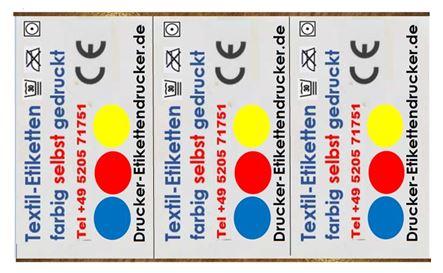 TM CW C7500 für farbige Textil-Etiketten