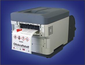 Endlos-Laserdrucker als Drucker für Chemieetiketten