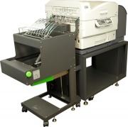 Drucker für Chemieetiketten F36C mit Traktor-Führung = ohne Papierstau drucken