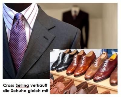 Cross Selling verkauft die Schuhe gleich mit