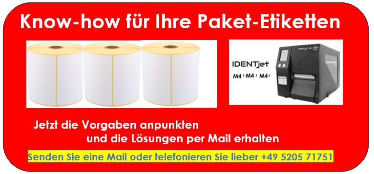 DHL-Etiketten mit IDENTjet M4 Thermodrucker ausgegeben