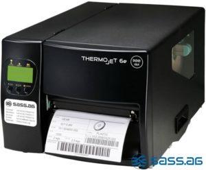 Dispenser mit Rewinder für den Etiketten-Träger beim THERMOjet_6e