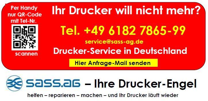 Jetzt den SASS-Drucker-Service anfordern