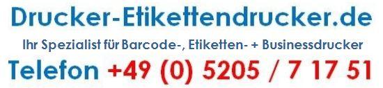 oder senden Sie eine Mail an sales@drucker-etikettendrucker.de