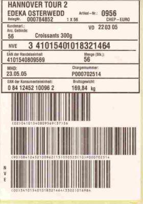 Drucker im Landhandel für SSCC-Etiketten