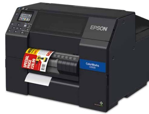 EPSON C6500PE mit einem A4-breitem Peeler