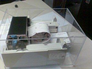 Eintrittskartendruck mit Desktop-Thermodrucker