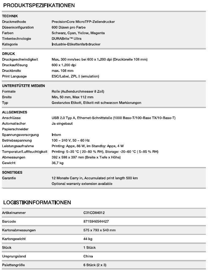 Epson-TM-C7500-Inkjet-Drucker-Details
