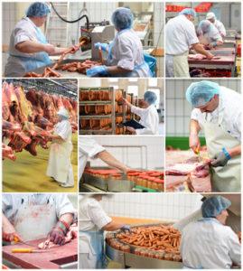 Lebensmittel-Herstellung Fleischerei