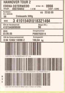 Etikettendrucker für GS1 128 Versandetiketten
