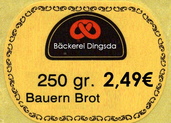 Lebensmittel-Etikett mit Logo drucken