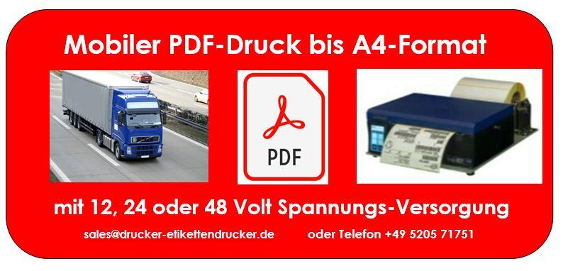 Mobile Fahrzeugdrucker für A4-breite Belege