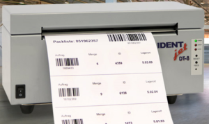Packlisten drucken mit IDENTjet DT12