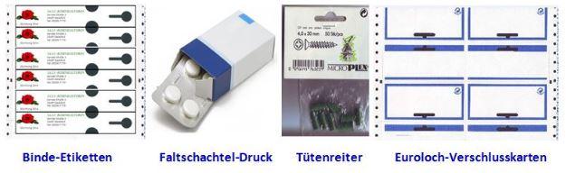Digitale Verpackungsdrucker (mit Neon-Farbe) für die Druckerei arbeiten schnell und zuverlässig.