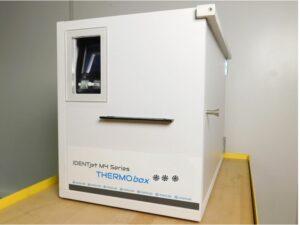 Feuchtraum-Druckerschrank mit Heizung für den Etikettendruck
