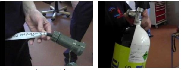 Feuerwehr-Etikettierung auf Rundungen