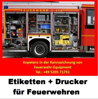 Feuerwehren benötigen Drucker, Etiketten und Software