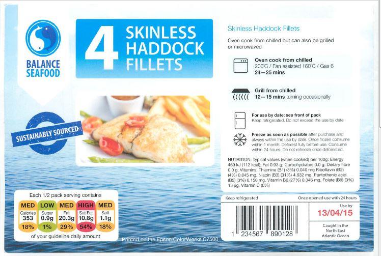 Fisch-Etikett Druck auf Glossy-Etiketten