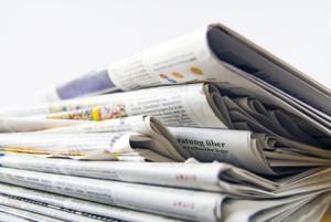 Zeitungsversand mit Cheshire-Etiketten