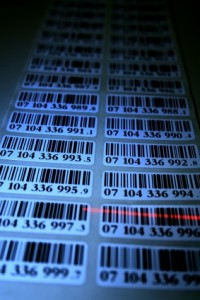 Barcode-Etiketten per Lineprinter