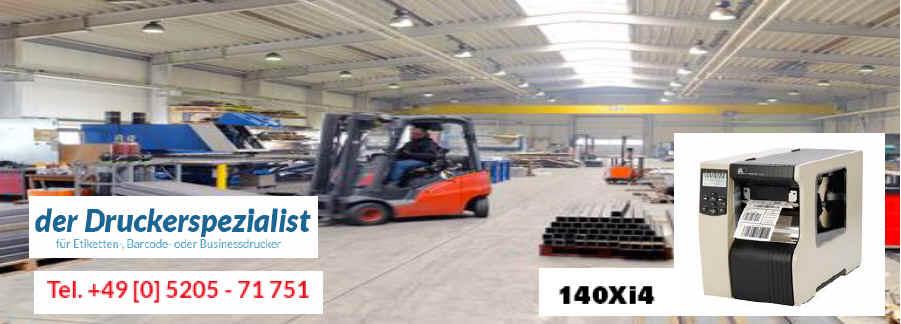 Zebra 140xi4 professioneller Etikettendrucker für Thermo-Direkt- und Transfer-Ausgaben