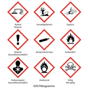 GHS Einzelblatt-Etiketten
