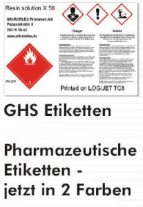 cab CX4 können GHS-Etiketten erzeugen
