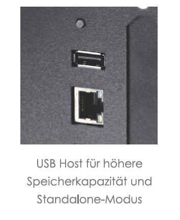 EZ-2250i / EZ-2350i Anschluss - USB oder Ethernet sind an Board