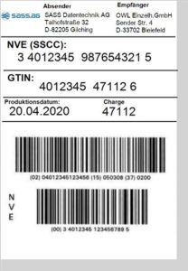 GS1-SSCC/NVE-Label für den Landhandel