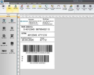 GS1-SSCC/NVE-Label mit einer kostenlosen Software