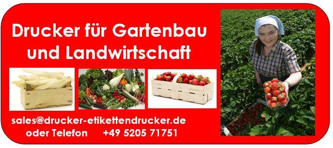 Drucker für Gemüseanbaut, Gartenbau, Landwirtschaft, Baumschulen und Pflanzenzucht-Betriebe
