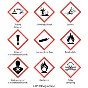 Gefahrstoff-Aufkleber resistent gegen Chemikalien selbst drucken