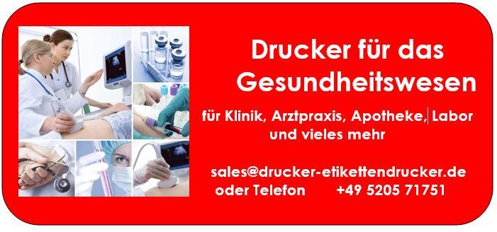 Etikettendrucker für Ihr Krankenhaus / Ihre Arzt-Praxis