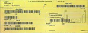 Global Transport Label, KLT 1 und KLT2 mit Zertifikat