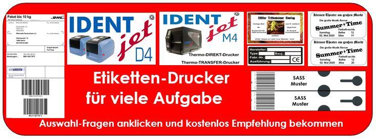 IDENTjet D4 und M4 - richtig für Ihre Aufgaben