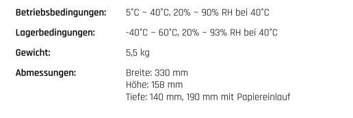 IDENTjet-DT8 technische Details zum Drucker