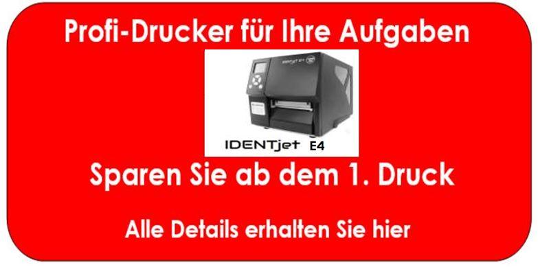 IDENTjet E4 sind Drucker mit Langzeit-Garantie