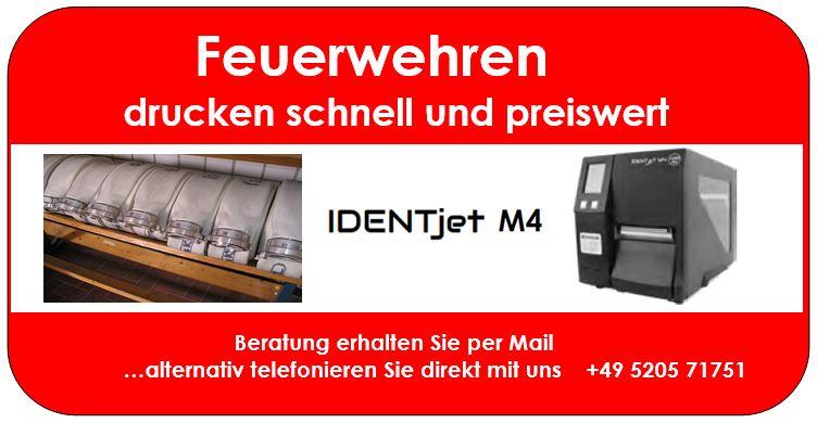 Feuerwehren setzen Profi-Drucker ein: IDENTjet M4