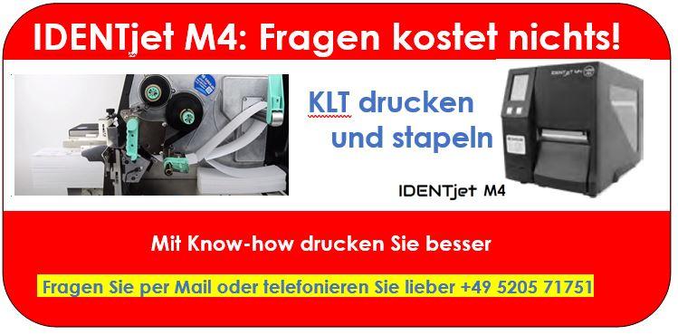 KLT mit Spitzen-Auflösung von 600 dpi drucken: IDENTjet M4-6