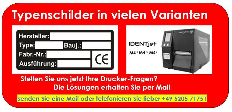 IDENTjet M4 für Ihre Typenschilder